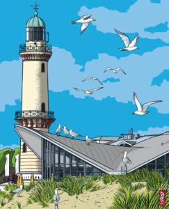Leuchtturm Warnemünde · Ostsee