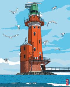Leuchtturm Hohe Weg · Nordsee