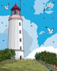 Leuchtturm Dornbusch · Ostsee