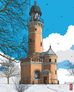 Leuchtturm Kiel Holtenau · Ostsee