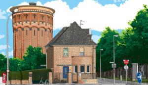 Krefeld-Mitte · Wasserturm