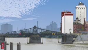 Krefeld-Linn · Drehbrücke