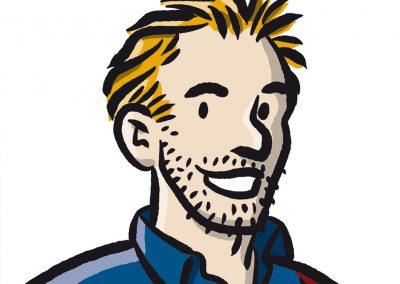 Frät als Comicfigur, 2014