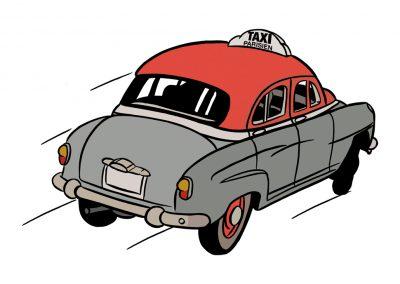Taxi Parisiene · Simca Aronde