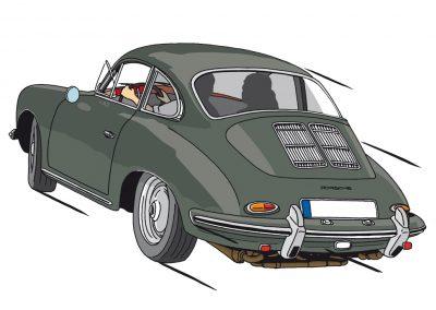 Porsche über Köln