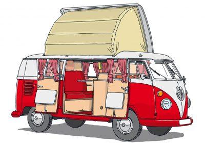 VW Bulli T1 Camingpack