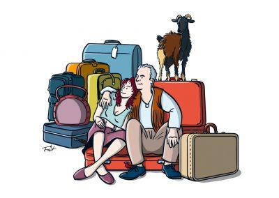 Wolle und Frau