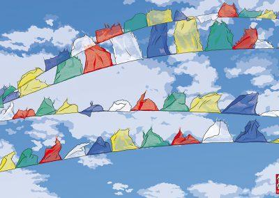 No. 14 · Tibetische Gebetsfahnen