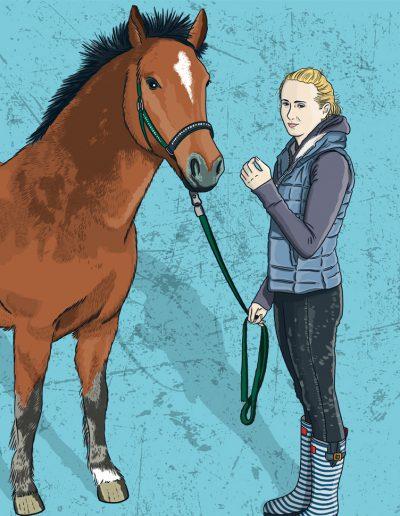 Sylvie und Ihr Pferd