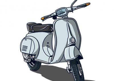 Vespa P50 BlauGrau