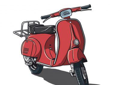 Vespa P50 Rot