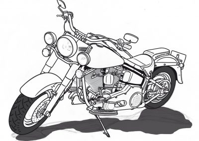 Strich Harley Davidson