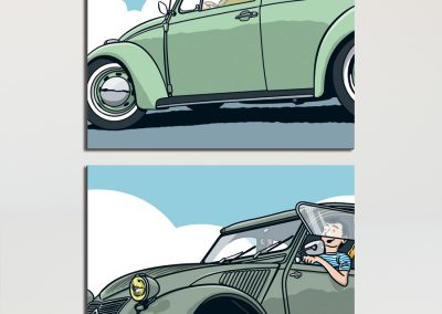 Oldtimer ComicPopart
